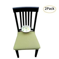 Waterproof Dining Chair Cover Protector – Pack 2 – Perfect For Pets, Kids, Elderly,  ...