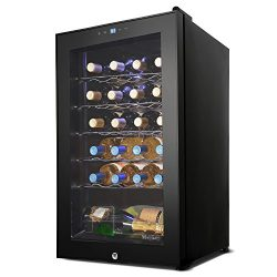 24 Bottle Thermoelectric Wine Cooler Standing Compressor Counter Top Refrigerator(US STOCK)