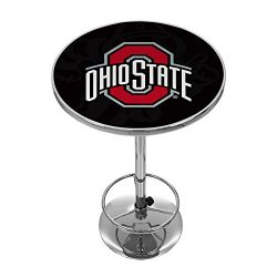"NCAA Ohio State University ""Shadow Brutus"" Chrome Pub Table"