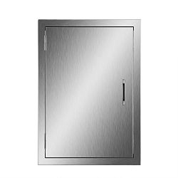 Happybuy BBQ Access Door Double Wall Construction 17W x 24H In. BBQ Island/Outdoor Kitchen Acces ...