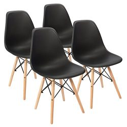 Eames Pre Assembled Mid Century Modern Dining Chair Effiel Modern DSW Chair, Shell Lounge Plasti ...