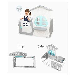 iFAM Baby House 6 Panel Set (4 shell /2 White+ 2 Gray)+ Door + house Panel