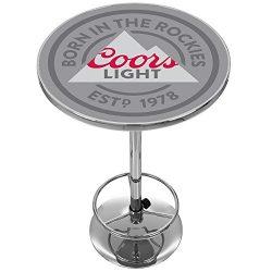 Coors Lights Chrome Pub Table