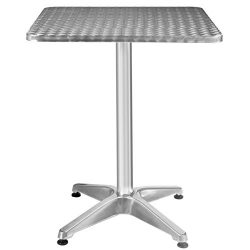 New Adjustable Aluminum Stainless Steel Square Table 23 1/2″ Patio Pub Restaurant