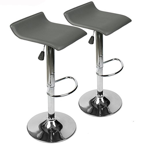 360 Degree Swivel Adjustable Bar Stool Mordern Faux