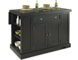 Home Styles 5033-94 Nantucket Kitchen Island, Distressed Black Finish