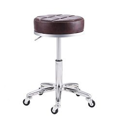 Rfiver Modern PU Leather Relief Hydraulic Adjustable Swivel Drafting Stool Chair for Salon Spa M ...