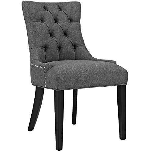 Modway Regent Modern Elegant Button-Tufted Upholstered Fabric Dining Side Chair With Nailhead Tr ...