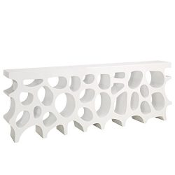 Modway Wander Large Stand In White – Modern Console Table For Entryway – Magazine Or ...