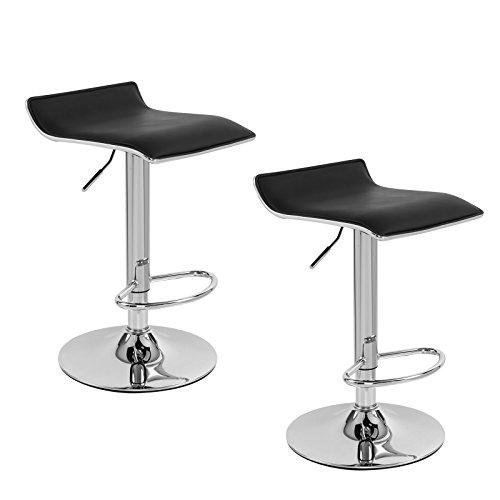 3 Adjustable Swivel Bar Stool Set Counter Height Kitchen: SONGMICS Set Of 2 PU Leather Modern Adjustable Hydraulic