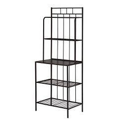 Target Marketing Systems Liv Collection Contemporary Metal Kitchen Dining Baker's Rack Wit ...
