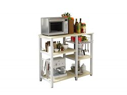 3-Tier 35″ Microwave Stand Storage Kitchen Baker's Rack Utility Microwave Oven Stand ...
