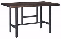 Signature Design by Ashley D469-13 Kavara Counter Height Dining Room Table, Medium Brown