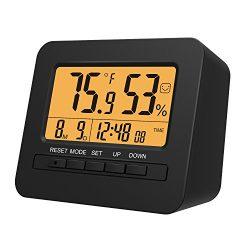 MoKo LED Digital Alarm Clock, Multifunctional Electronic Home Decor Desktop Table Bedside Clock  ...