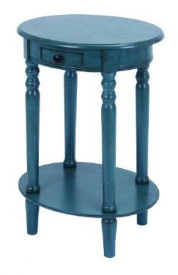 Deco 79 Classic Accent Table, Blue