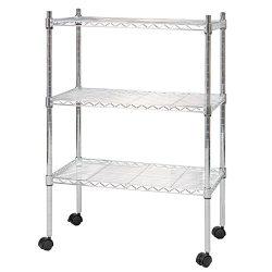GOOD LIFE Classics Chrome 3-Tier Steel Wire Shelving Kitchen Storage Tower Organizer Shelves Rac ...