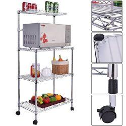 Giantex 3-Tier Kitchen Baker's Rack Microwave Oven Stand Storage Cart Workstation Shelf