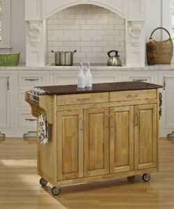 Home Styles 9200-1017G Create-a-Cart, Natural Finish with Cherry Top