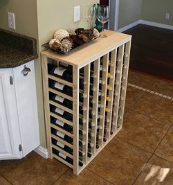 Creekside 48 Bottle Table Wine Rack (Pine) by Creekside – Exclusive 12 inch deep design co ...