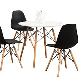 Kitchen Dining Table Round Coffee Table Modern Leisure Wood Tea Table Office Conference Pedestal ...