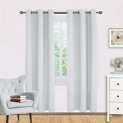 Room Darkening Window Curtain Panels – NICETOWN Easy Care Solid Thermal Insulated Grommet  ...