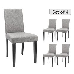 Furmax Dining Chairs Urban Style Fabric Tufted Parson Chair Side Chair With Solid Wood Legs (Ger ...
