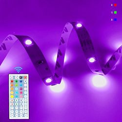 LED Flexible Strip Light Kit RGB Dimmable Rope Lighting 32.8Ft 300LEDs SMD5050 DC12V with 44Key  ...