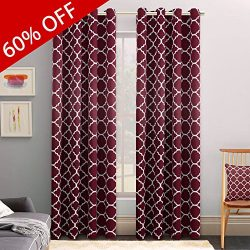 FlamingoP Christmas Decoration Microfiber Noise Reducing Thermal Insulated Moroccan Blackout Dra ...