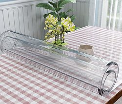 VALLEY TREE Clear Table Cover Protector 1.5mm Thick PVC Soft Glass Transparent Dining Table Pad  ...