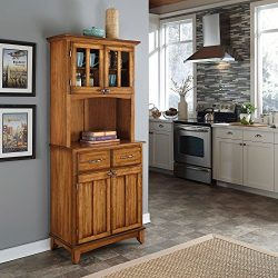 Metro Shop Cottage Oak Hutch Buffet with Wood Top