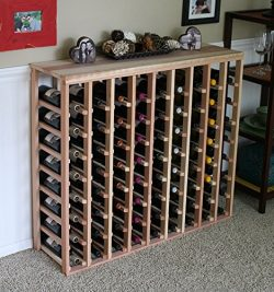Creekside 72 Bottle Table Wine Rack (Redwood) by Creekside – Exclusive 12 inch deep design ...