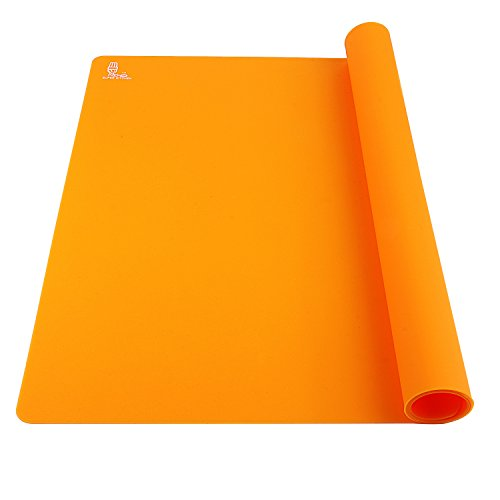 Super Kitchen Food Grade Silicone Extra Large Pastry Mat Baking Mat 23.4 By 15.6 Inches Orange