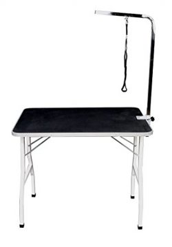 "36"" Large Pet Cat Dog Grooming Foldable Table Shampooing Table with Adjustable Arm/Noose 5014"