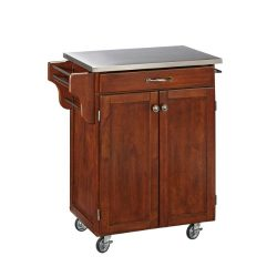 Home Styles 9001-0072 Create-a-Cart 9001 Series Cuisine Cart with Stainless Steel Top, Cherry, 3 ...