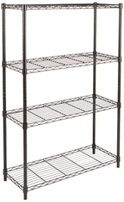AmazonBasics 4-Shelf Shelving Unit – Black