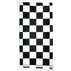 Creative Converting Plastic Stay Put Banquet Table Cover, 29 by 72-Inch, Black Check