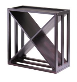 "Winsome Wood Kingston ""X""-Design Wine Storage Cube"