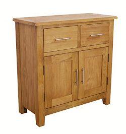 Nebraska Oak – Mini Sideboard / Small 2 Door 2 Drawer Storage Dresser Cupboard Cabinet Uni ...