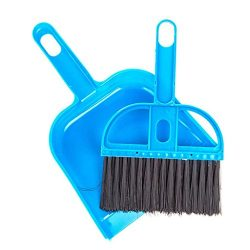 Pet Cage Broom Brush Dustpan Set – Small Cat Litter Sweeper for Pet Cage Clean and Car Key ...
