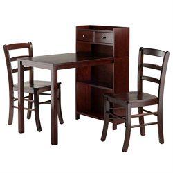 Ergode Tyler 3-Pc Set Table, Storage Shelf w/Ladder Back Chairs