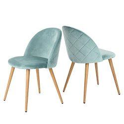 GreenForest living Room Leisure Chair. Wood Legs Velvet Fabric Cushion Seat Mental Wood Legs Rac ...