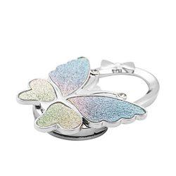 MonkeyJack 1Pcs Beautiful Butterfly Design Rhinestone Purse Umbrella Table Hook Handbag Holder B ...