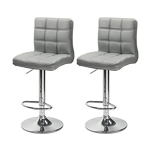 South Pioneer Set Of 2 Pu Leather Modern Adjustable Swivel