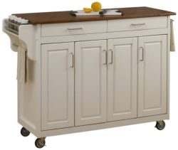 Home Styles 9200-1026G Create-a-Cart, White Finish with Oak Top