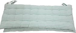 Melange 100% Cotton 44″ x 17″ Bench Cushions, Set of 2, Green Stripes