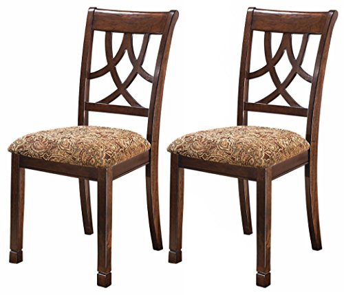 Ashley Furniture Signature Design – Leahlyn Dining Upholstered Side Chair – Pierced  ...