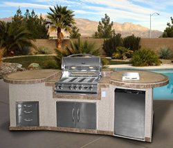 Cal Flame e3022 3 Piece Island with 32″ BBQ Grill