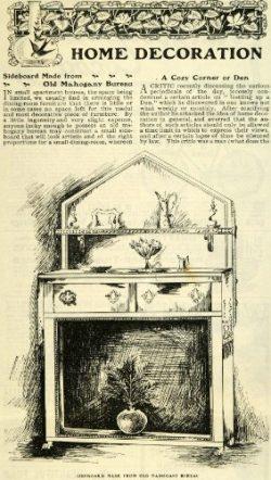 1901 Ad Mahogany Sideboard Bureau Furniture Home Decor Interior Decoration – Original Print Ad