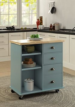 Oliver and Smith – Nashville Collection – Mobile Kitchen Island Cart on Wheels ̵ ...