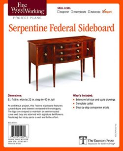Fine Woodworking's Serpentine Federal Sideboard Plan